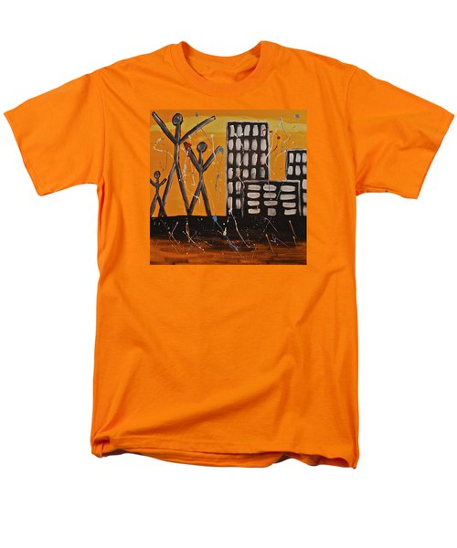 Men's T-Shirt  (Regular Fit) featuring the painting Lost Cities 13-002 by Mario Perron