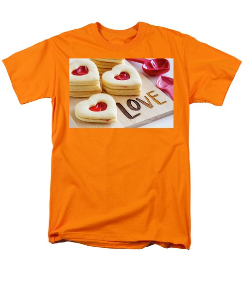 Men's T-Shirt  (Regular Fit) featuring the photograph Love Heart Cookies by Teri Virbickis