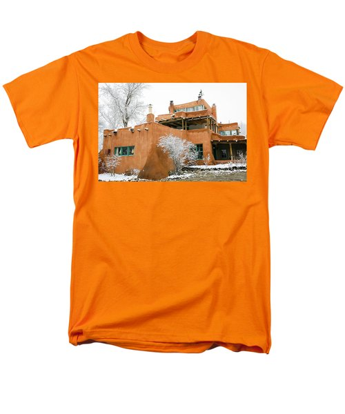Men's T-Shirt  (Regular Fit) featuring the photograph Mabel Luhan Dodge House 1 by Marilyn Hunt