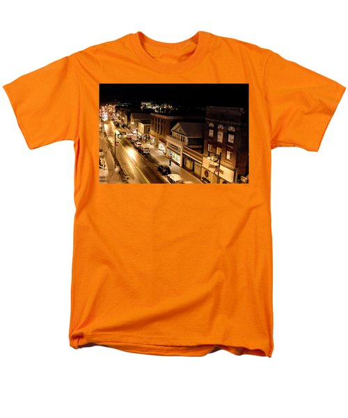 Men's T-Shirt  (Regular Fit) featuring the photograph Main Street - Lake Placid New York by Brendan Reals