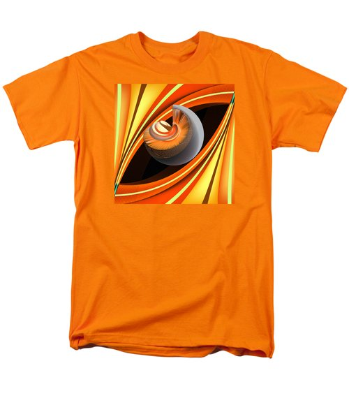 Men's T-Shirt  (Regular Fit) featuring the digital art Making Orange Planets by Angelina Vick