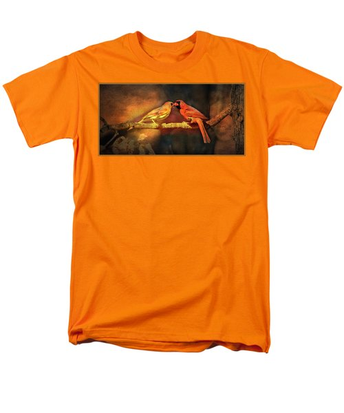 Male And Female Cardinal Men's T-Shirt  (Regular Fit) by Diane Giurco