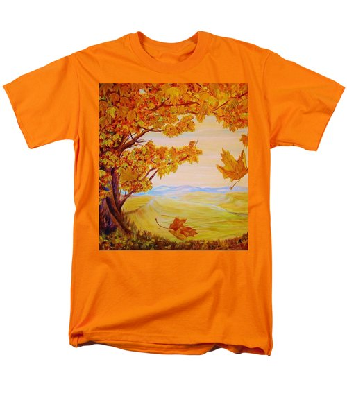 Men's T-Shirt  (Regular Fit) featuring the painting Maple One by Cathy Long