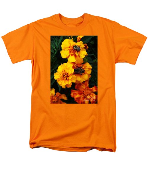 Men's T-Shirt  (Regular Fit) featuring the photograph Marigold Cluster by J L Zarek