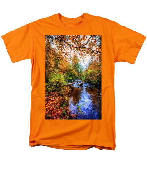 Men's T-Shirt  (Regular Fit) featuring the photograph Meandering In The Mountains by Debra and Dave Vanderlaan