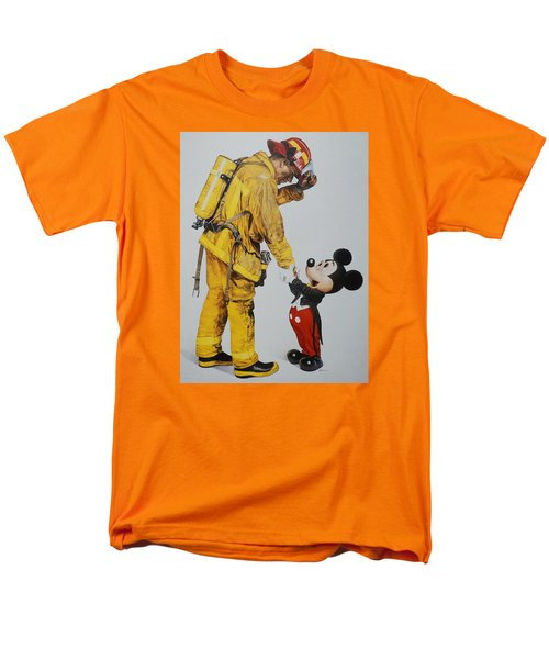 Mickey And The Bravest Men's T-Shirt  (Regular Fit) by Rob Hans