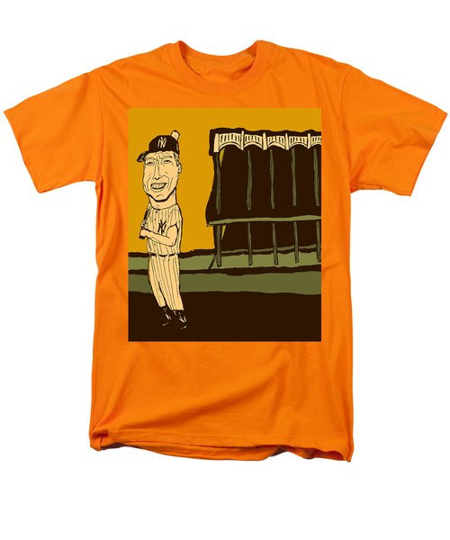 Mickey Mantle Yankee Stadium Men's T-Shirt  (Regular Fit) by Jay Perkins