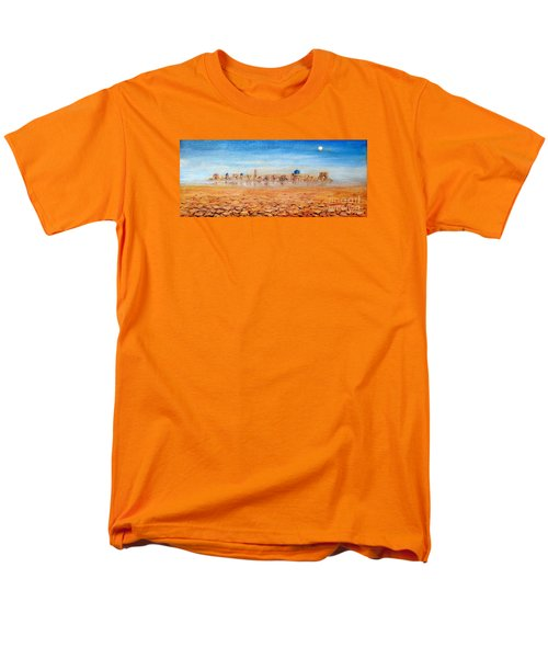 Men's T-Shirt  (Regular Fit) featuring the painting Mirage City by Arturas Slapsys