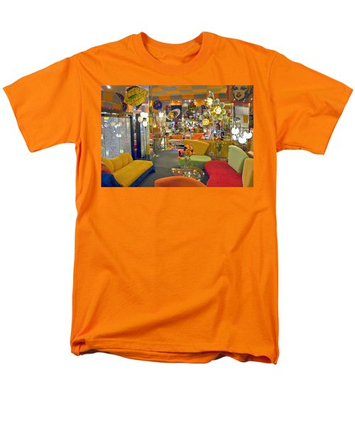 Men's T-Shirt  (Regular Fit) featuring the photograph Modern Deco Furniture Store Interior by David Zanzinger