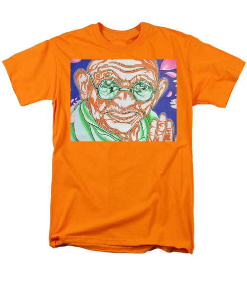 Men's T-Shirt  (Regular Fit) featuring the photograph Mohandas Karamchand Gandhi  by Juergen Weiss