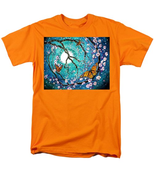 Monarch Butterflies In Teal Moonlight Men's T-Shirt  (Regular Fit) by Laura Iverson