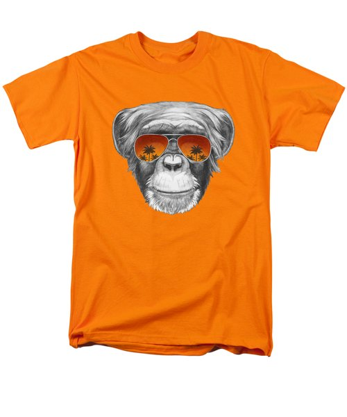 Monkey With Mirror Sunglasses Men's T-Shirt  (Regular Fit) by Marco Sousa