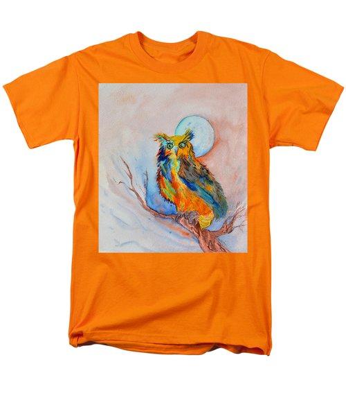 Moon Magic Owl Men's T-Shirt  (Regular Fit) by Beverley Harper Tinsley