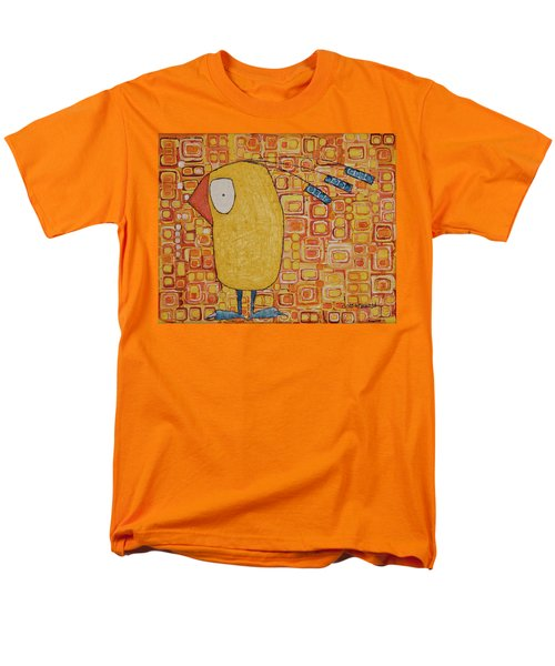 Men's T-Shirt  (Regular Fit) featuring the painting Morning Bird by Donna Howard
