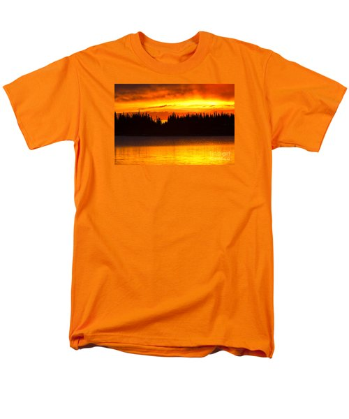 Men's T-Shirt  (Regular Fit) featuring the photograph Morning Fire by Aaron Whittemore