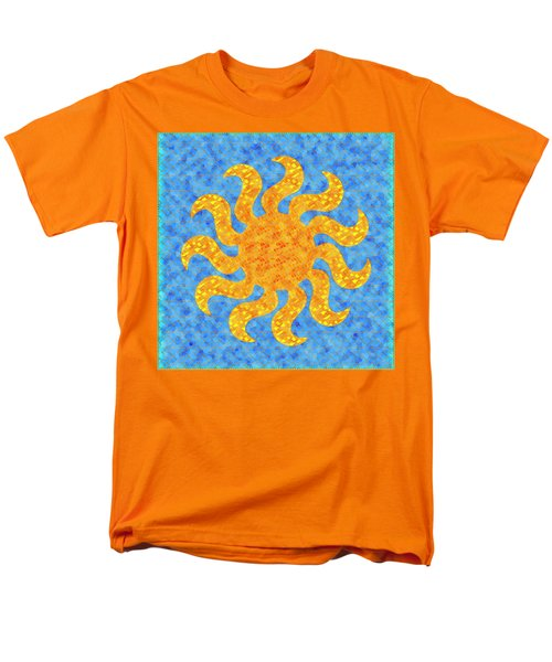 Mosaic Stained-glass Of The Sun Men's T-Shirt  (Regular Fit) by Anton Kalinichev