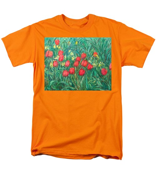 Men's T-Shirt  (Regular Fit) featuring the painting Mostly Tulips by Kendall Kessler