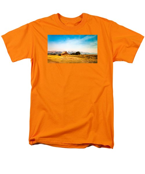 Men's T-Shirt  (Regular Fit) featuring the photograph Moulton Barn by Cathy Donohoue