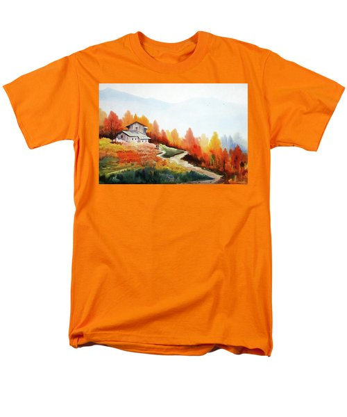 Mountain Autumn Forest Men's T-Shirt  (Regular Fit) by Samiran Sarkar