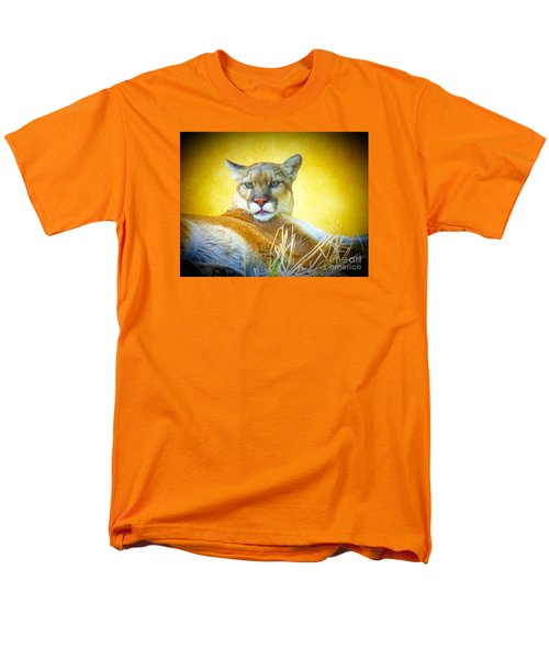 Mountain Lion Two Men's T-Shirt  (Regular Fit) by Suzanne Handel