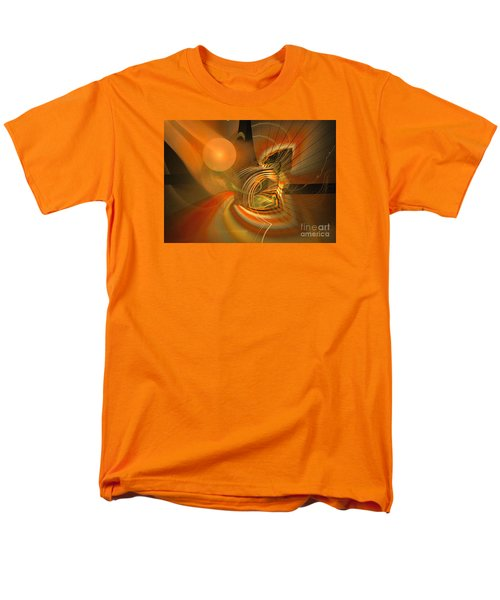 Men's T-Shirt  (Regular Fit) featuring the digital art Mutual Respect - Abstract Art by Sipo Liimatainen