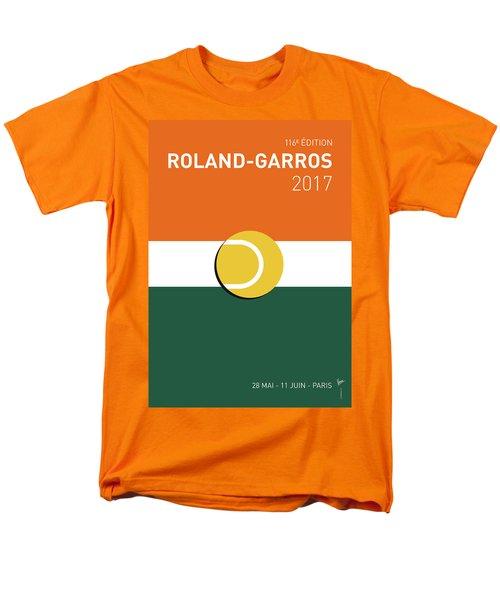 Men's T-Shirt  (Regular Fit) featuring the digital art My Grand Slam 02 Rolandgarros 2017 Minimal Poster by Chungkong Art
