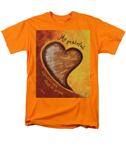 Men's T-Shirt  (Regular Fit) featuring the painting My Grateful Heart by Agata Lindquist