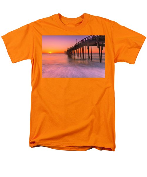 Nags Head Avon Fishing Pier At Sunrise Men's T-Shirt  (Regular Fit) by Ranjay Mitra