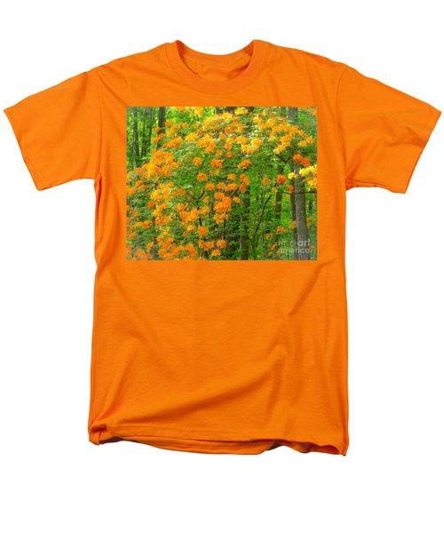 Natural Wild Azaleas  Men's T-Shirt  (Regular Fit) by Rand Herron