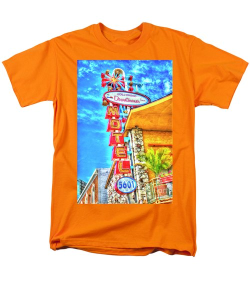 Neon Motel Sign Men's T-Shirt  (Regular Fit) by Jim And Emily Bush