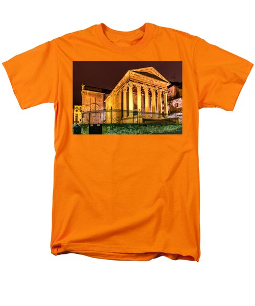 Night At The Roman Temple Men's T-Shirt  (Regular Fit) by Randy Scherkenbach