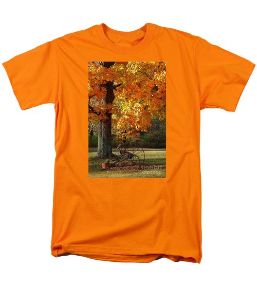 Men's T-Shirt  (Regular Fit) featuring the drawing October Day by Diane E Berry