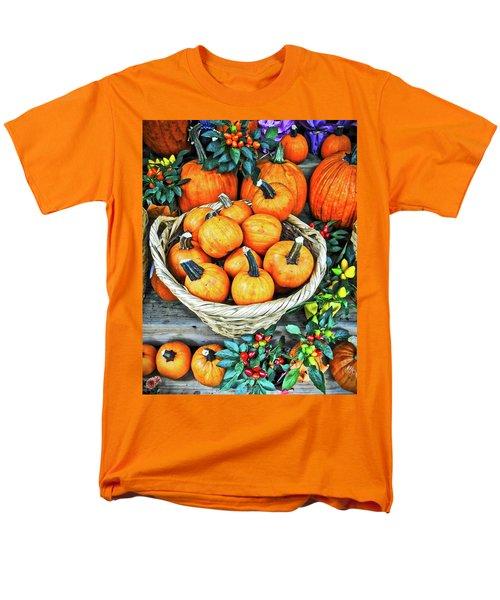 Men's T-Shirt  (Regular Fit) featuring the photograph October Pumpkins by Joan Reese