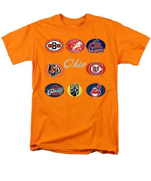 Ohio Professional Sport Teams Collage Men's T-Shirt  (Regular Fit) by Movie Poster Prints
