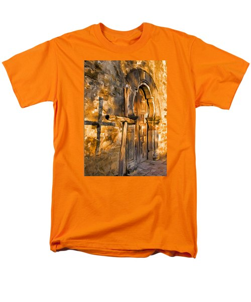 Men's T-Shirt  (Regular Fit) featuring the photograph Old Mission Cross by Dennis Cox WorldViews