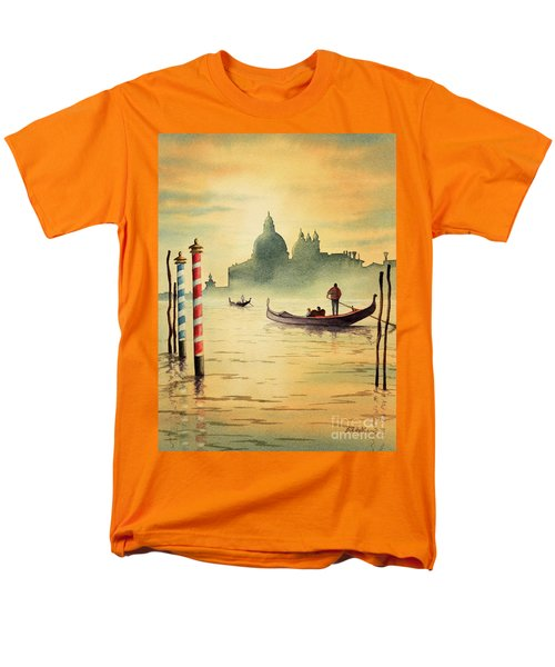 On The Grand Canal Venice Italy Men's T-Shirt  (Regular Fit) by Bill Holkham