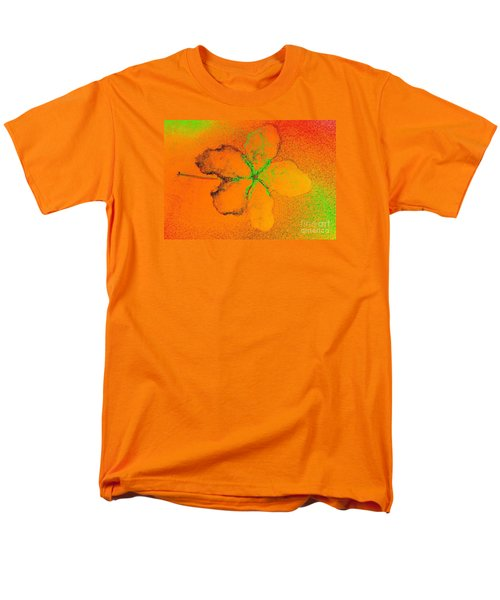 Orange Abstract Flower By Jasna Gopic Men's T-Shirt  (Regular Fit) by Jasna Gopic
