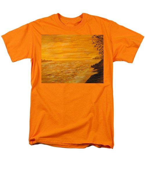 Men's T-Shirt  (Regular Fit) featuring the painting Orange Beach by Ian  MacDonald