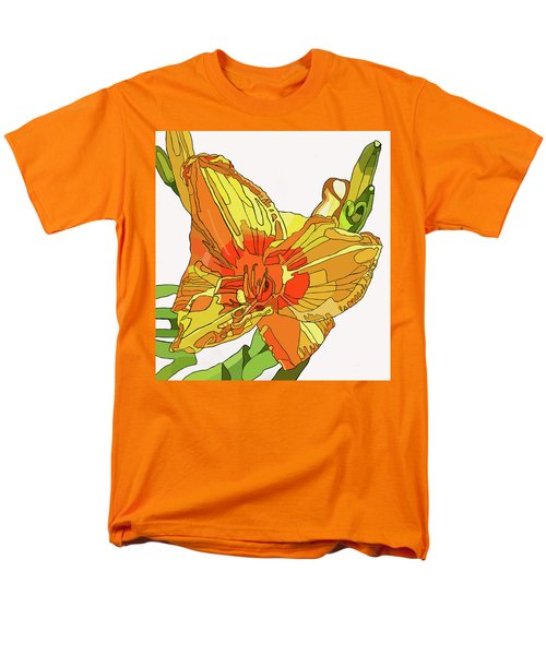 Orange Canna Lily Men's T-Shirt  (Regular Fit) by Jamie Downs