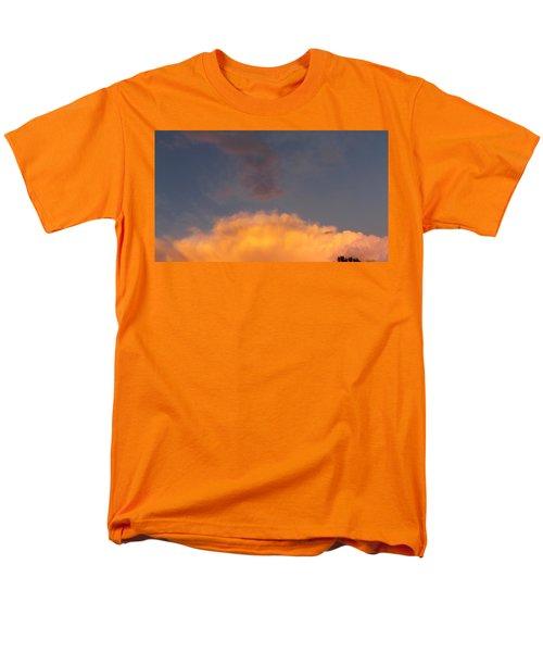 Orange Cloud With Grey Puffs Men's T-Shirt  (Regular Fit) by Don Koester