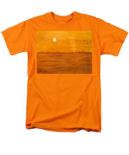 Men's T-Shirt  (Regular Fit) featuring the painting Orange Ocean by Ian  MacDonald