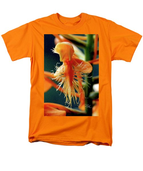 Men's T-Shirt  (Regular Fit) featuring the photograph Fringed Orange Orchid by Meta Gatschenberger
