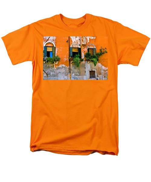 Orange Wall Men's T-Shirt  (Regular Fit) by Harry Spitz