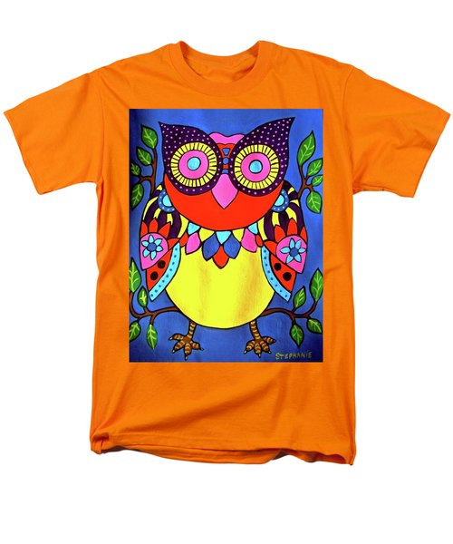 Owl Men's T-Shirt  (Regular Fit) by Stephanie Moore