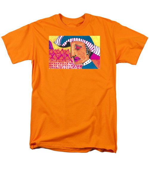 Men's T-Shirt  (Regular Fit) featuring the painting Pagliacci Tuscany by Don Koester