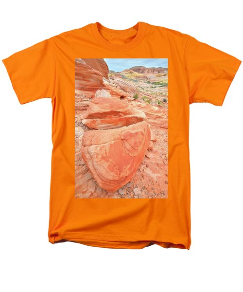 Men's T-Shirt  (Regular Fit) featuring the photograph Park Road View In Valley Of Fire by Ray Mathis