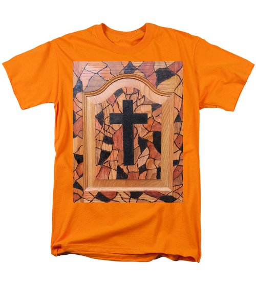 Patchwork And Cross Men's T-Shirt  (Regular Fit) by Lisa Brandel