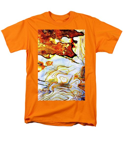 Men's T-Shirt  (Regular Fit) featuring the photograph Patterns In Stone - 201 by Paul W Faust - Impressions of Light
