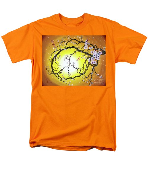 Peace Tree In Golden Glow  Men's T-Shirt  (Regular Fit) by Laura Iverson