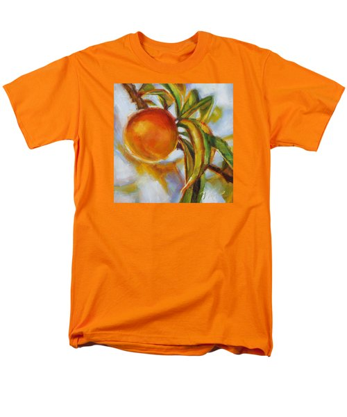 Peach Men's T-Shirt  (Regular Fit) by Tracy Male